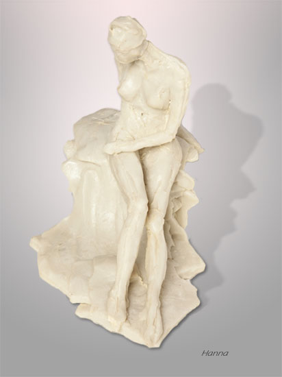 Hanna, Poured Marble Statue by Karen Cauvin Eustis