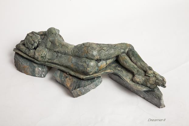 Dreamer II, A Fired Clay Sculpture by Karen Cauvin Eustis