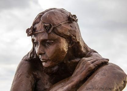 Spirit of the Earth, Bronze Sculpture by karen Cauvin Eustis