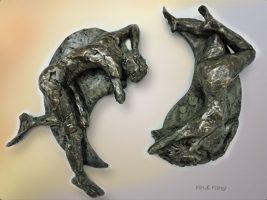 Yin & Yang, Bronze Sculpture by Karen Cauvin Eustis