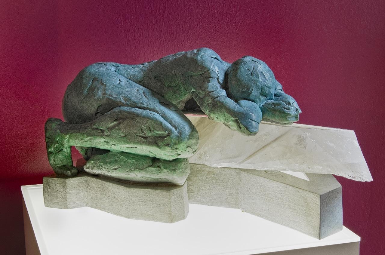 Forgiveness, Bronze and Stone Sculpture by karen Cauvin Eusitis